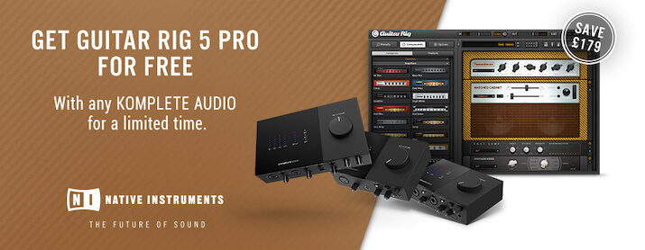 Freer Guitar Rig 5 Pro with any KOMPLETE AUDIO interface