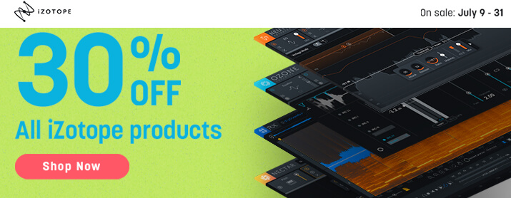 30% OFF ALL iZotope Products