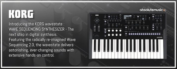 Brand new from KORG - the wavestate!